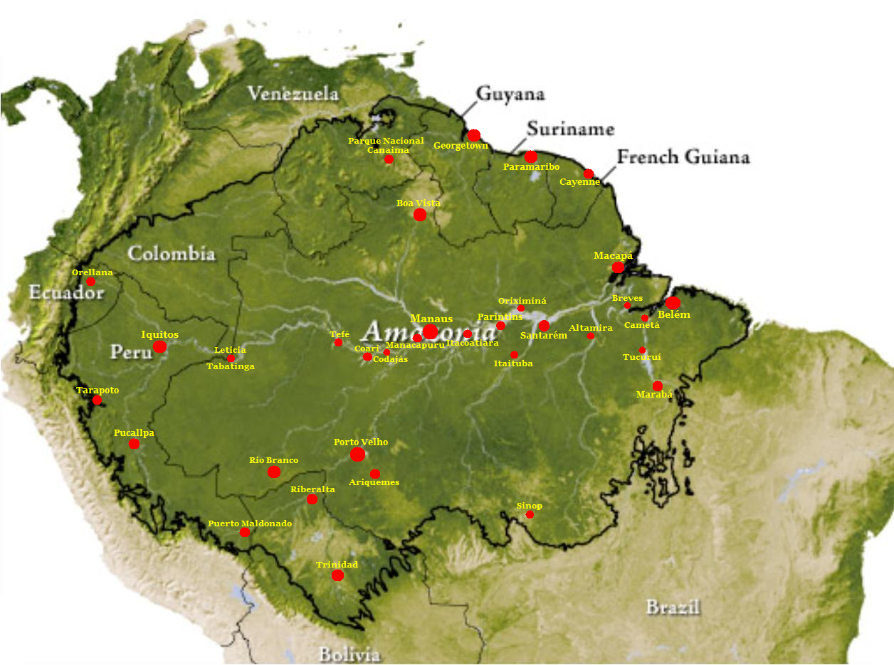 Mapa da Amazônia